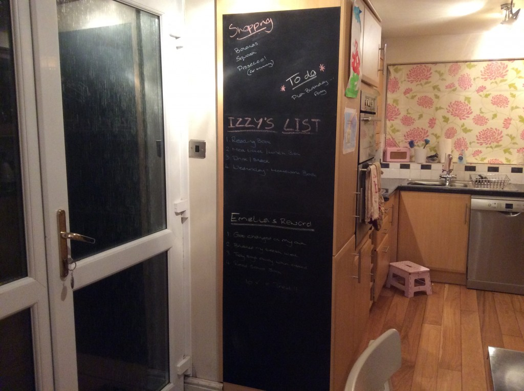 The finished blackboard, so happy with it.