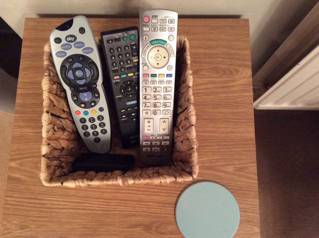 Remote control basket