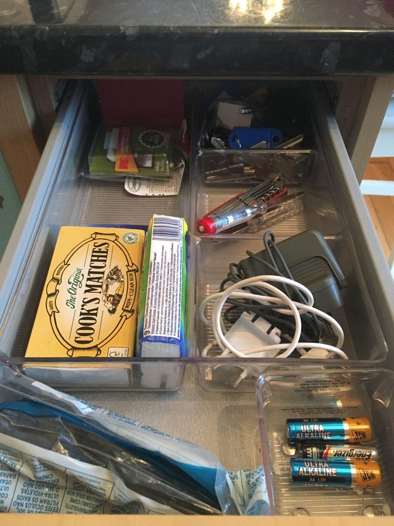 Finished junk drawer