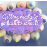Getting ready to go back to school!