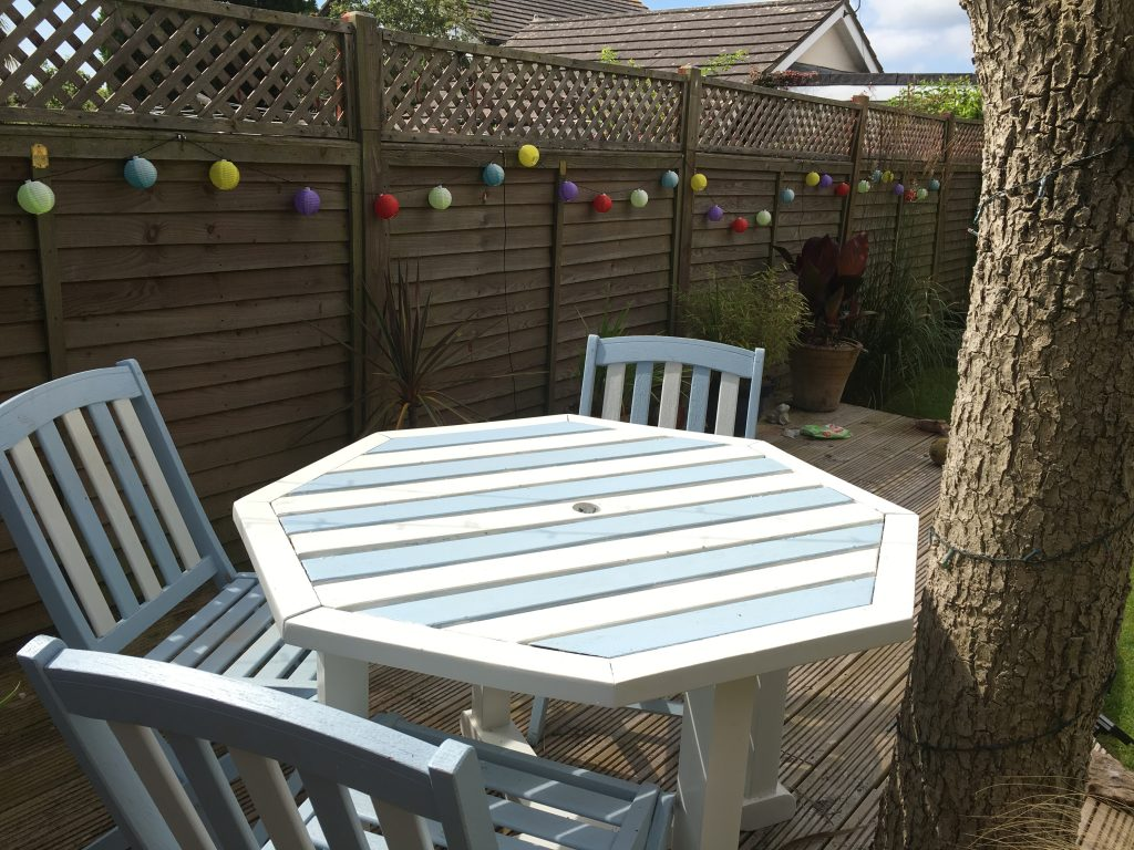 Decking with solar lights
