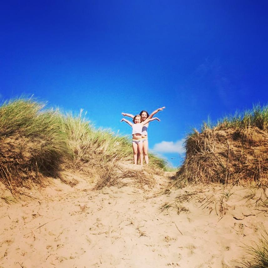 Girls at Saunton Sands