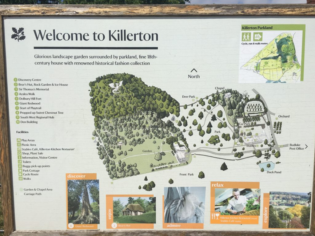 Killerton map