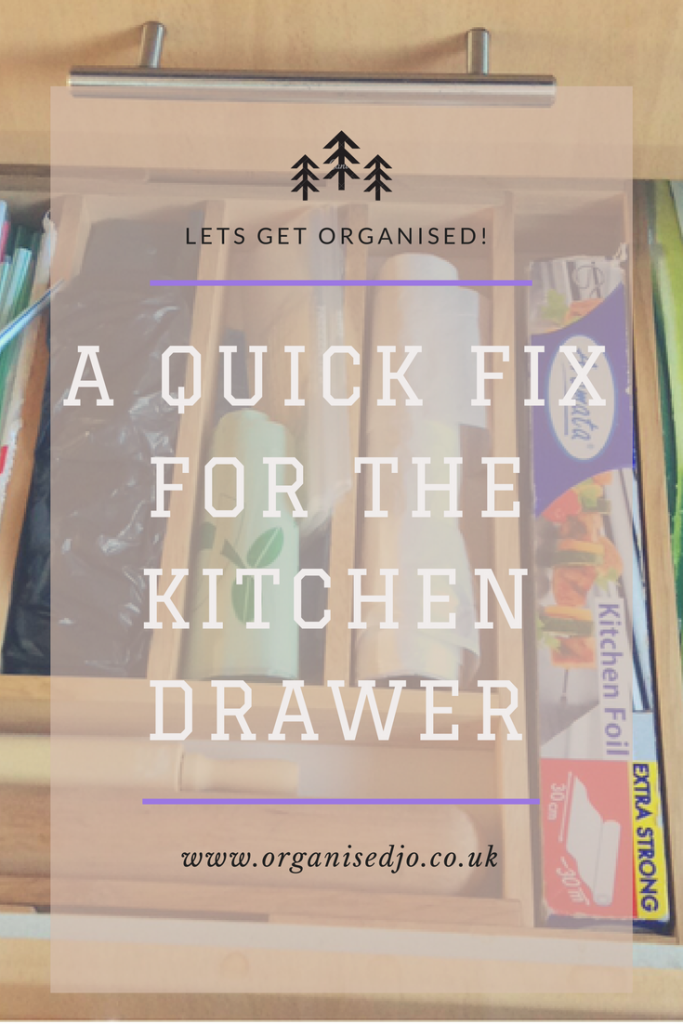 Do you struggle to find things in your kitchen drawers? If so then give this quick simple organising trick a go.