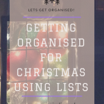 Getting organised for Christmas using lists