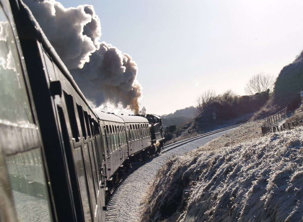 Christmas events in South Devon including the Dartmouth Steam Train Santa Express