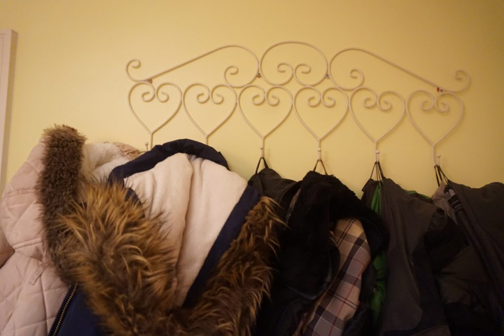 The coat rack that we use in our playroom.