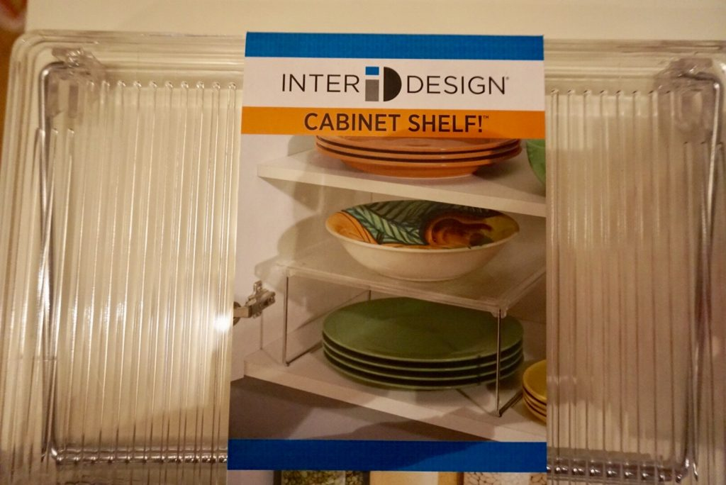 Inter Design Cabinet Shelf which will help store the tupperware