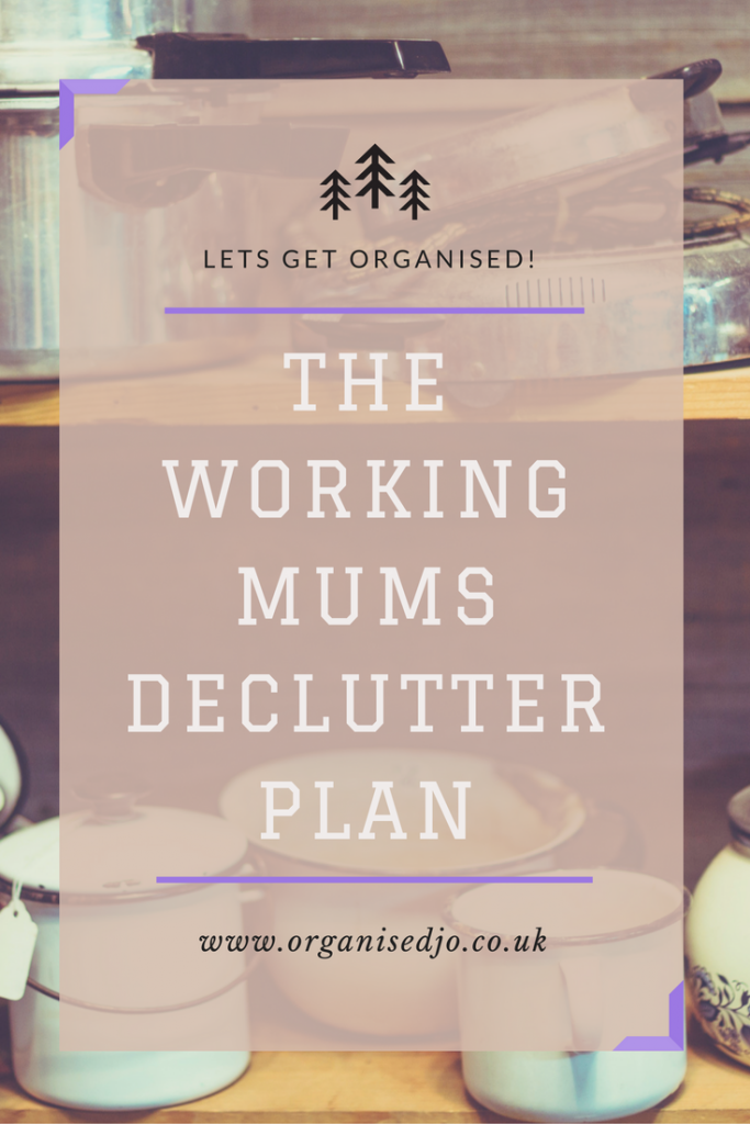 A daily decluttering plan to help working mum's