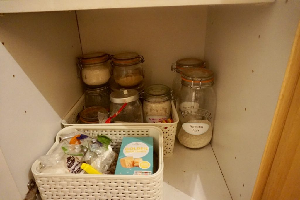 Jars are used to store the majority of the ingredients