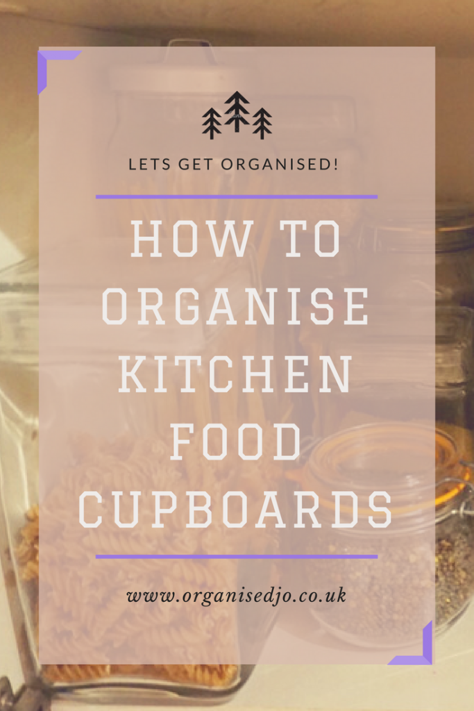 How to organise your food cupboard