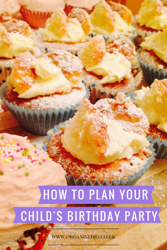 How to plan your child's birthday party part two