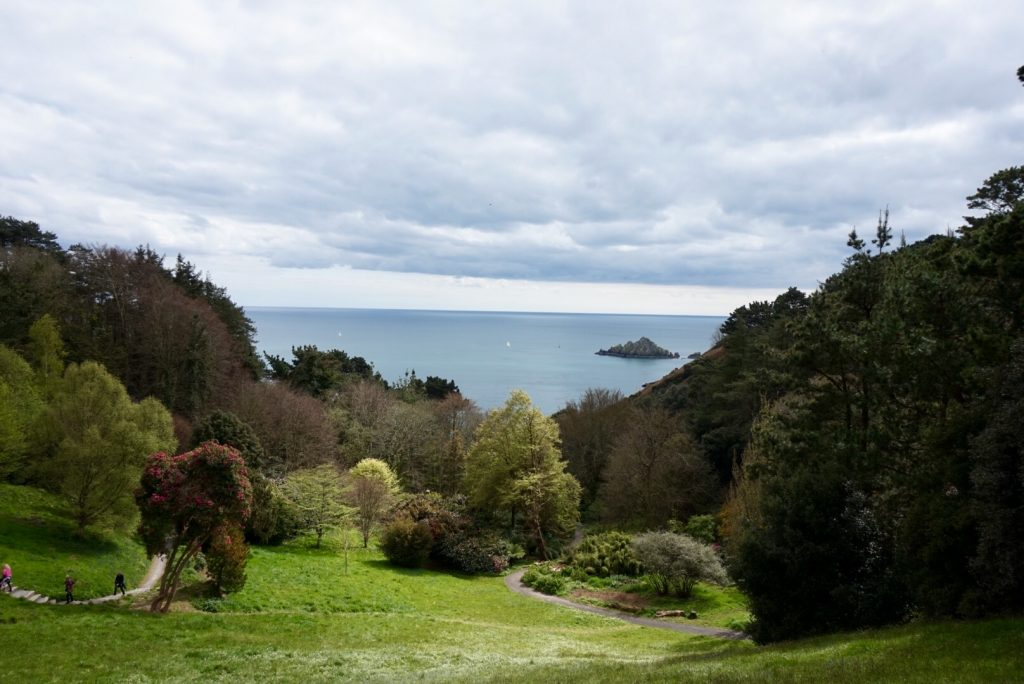 The view towards the sea st Coleton Fishacre