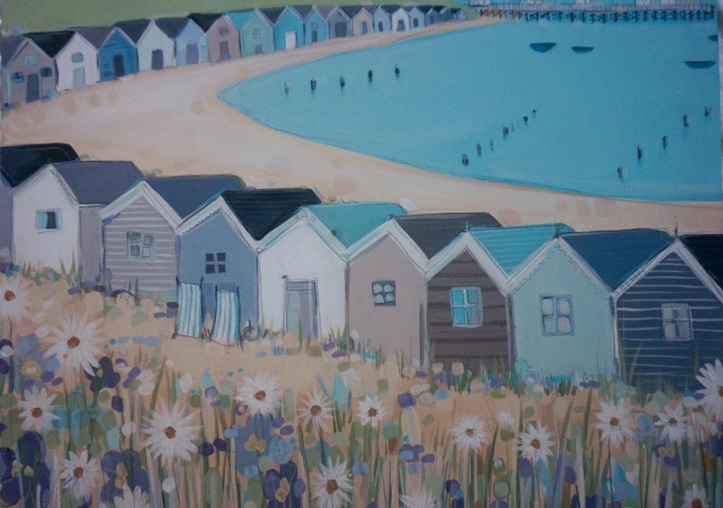 Beach hut print from Wayfair