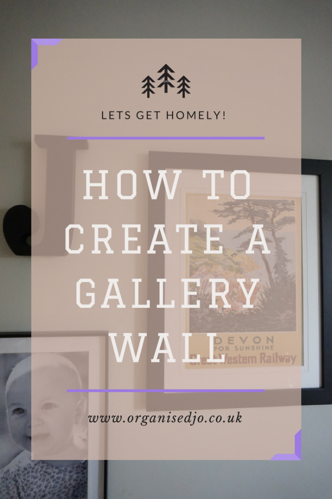 Learn how to create a gallery wall by using my five top tips