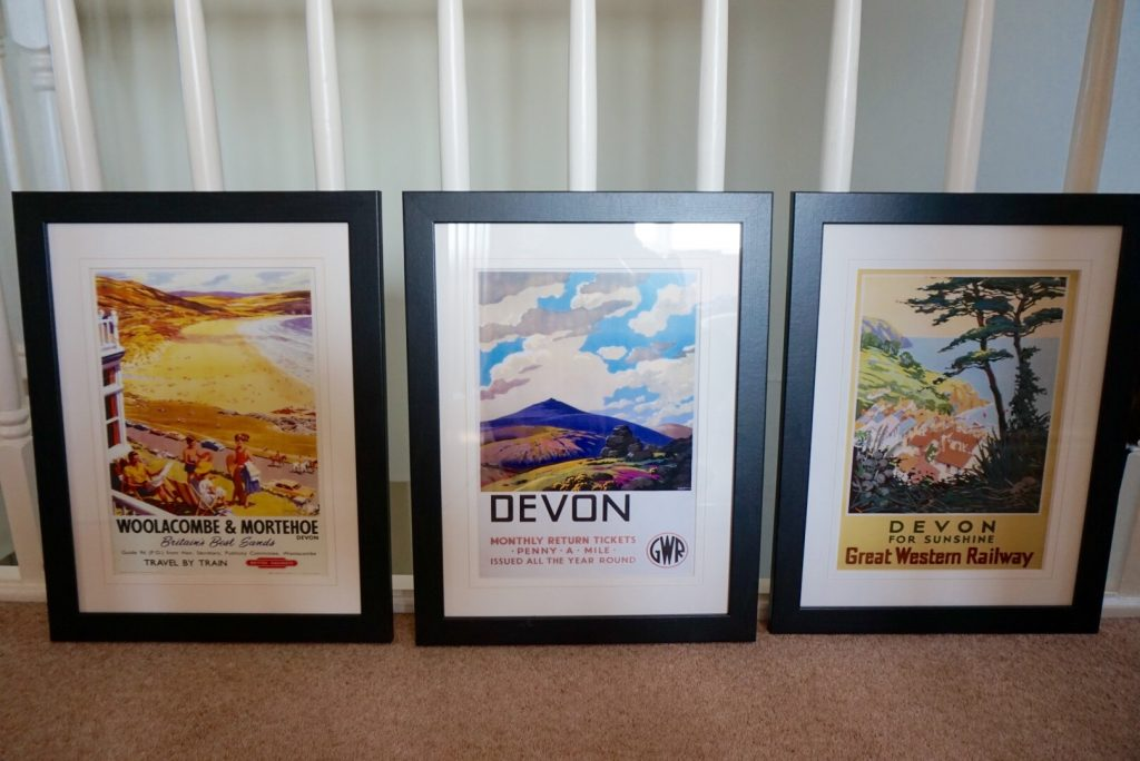 The three GWR prints for our gallery wall