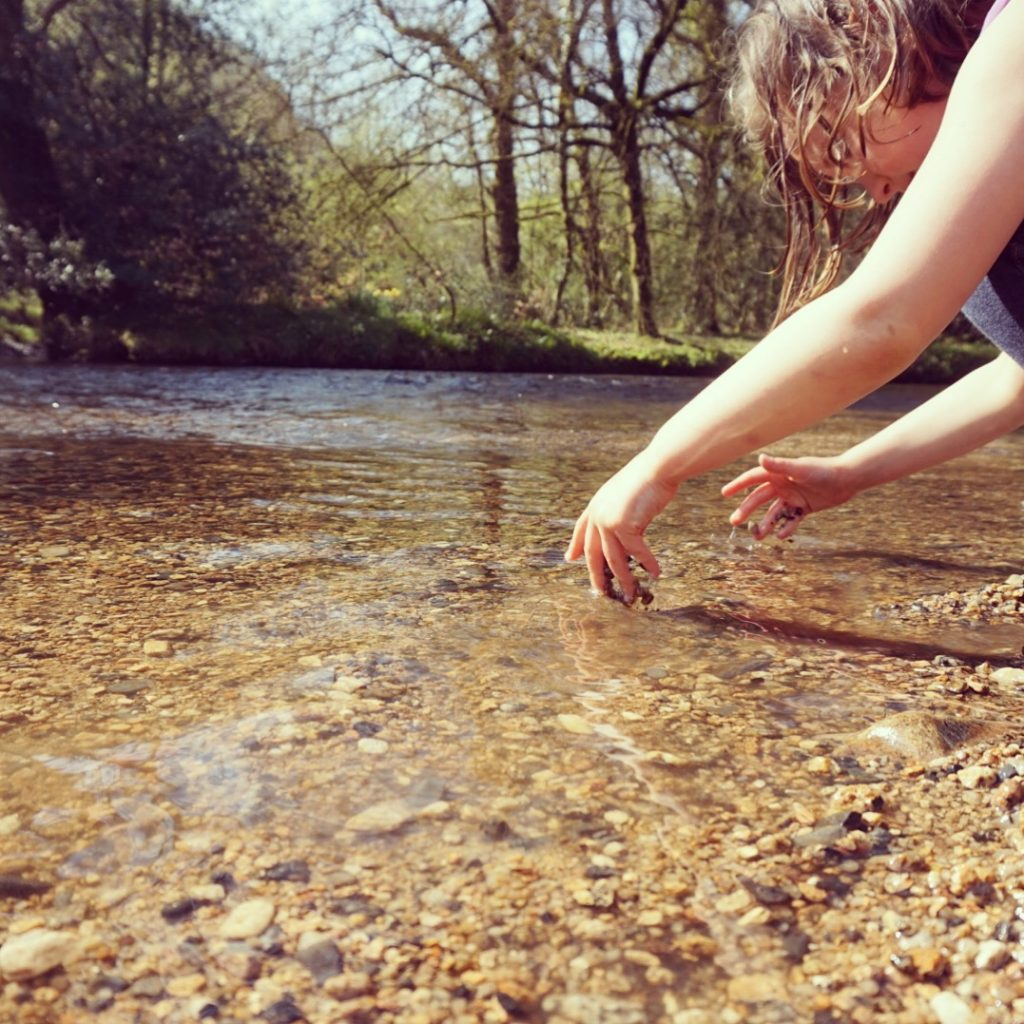 cooling off in the River Bovey