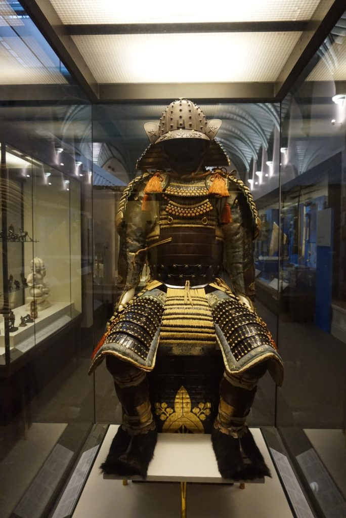 A suit of armour, one of the many amazing exhibitd