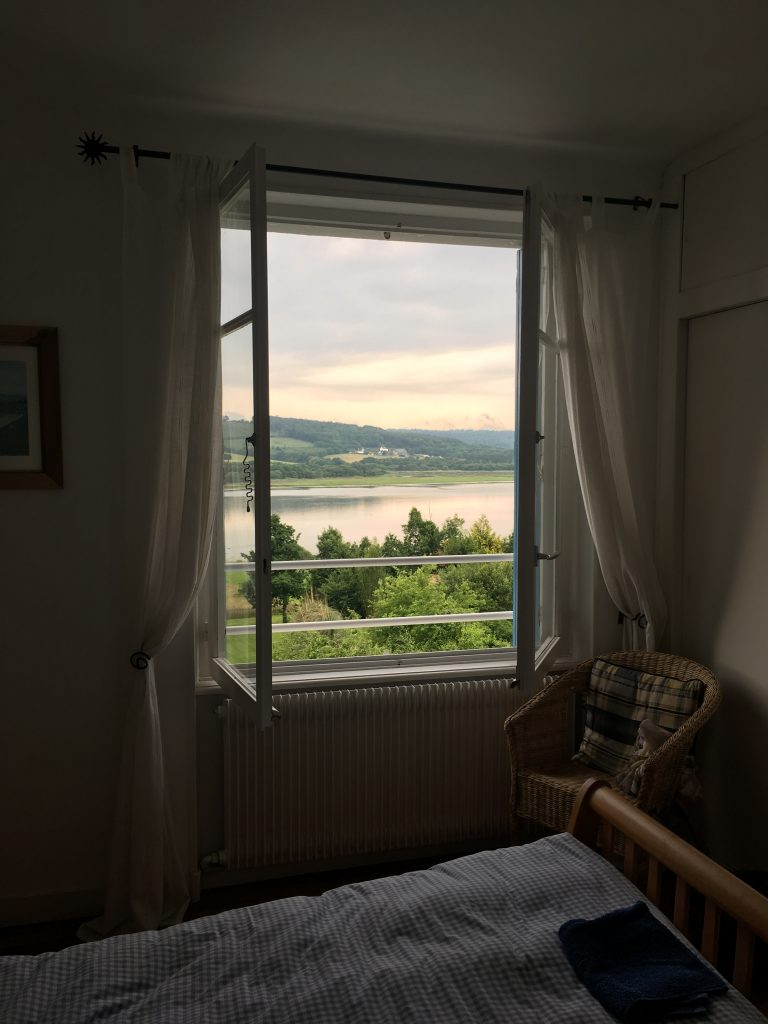 The amazing view from our bedroom at Estuary House