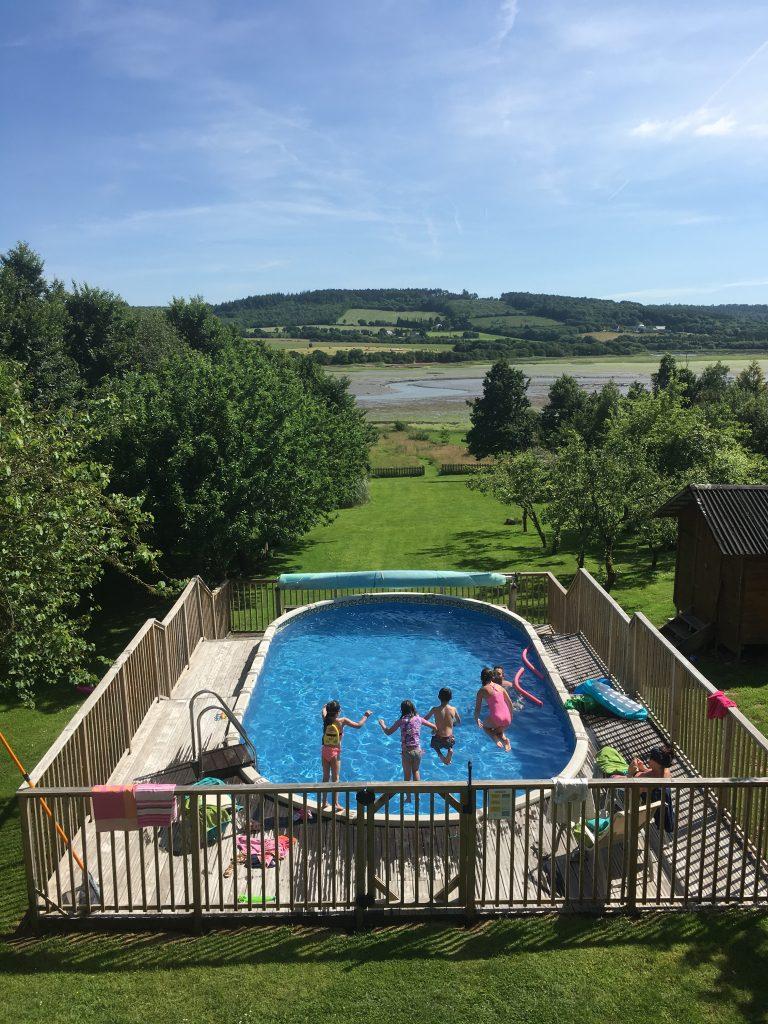 The pool at Estuary House, Le Faou