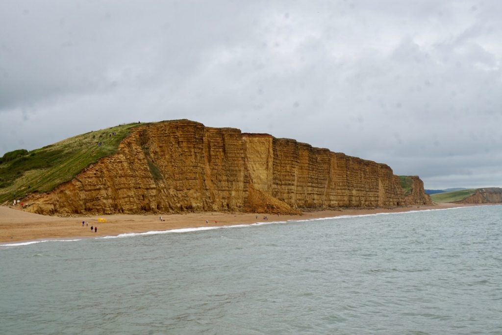 The stunning Jurassic Coast coastline from West Bay