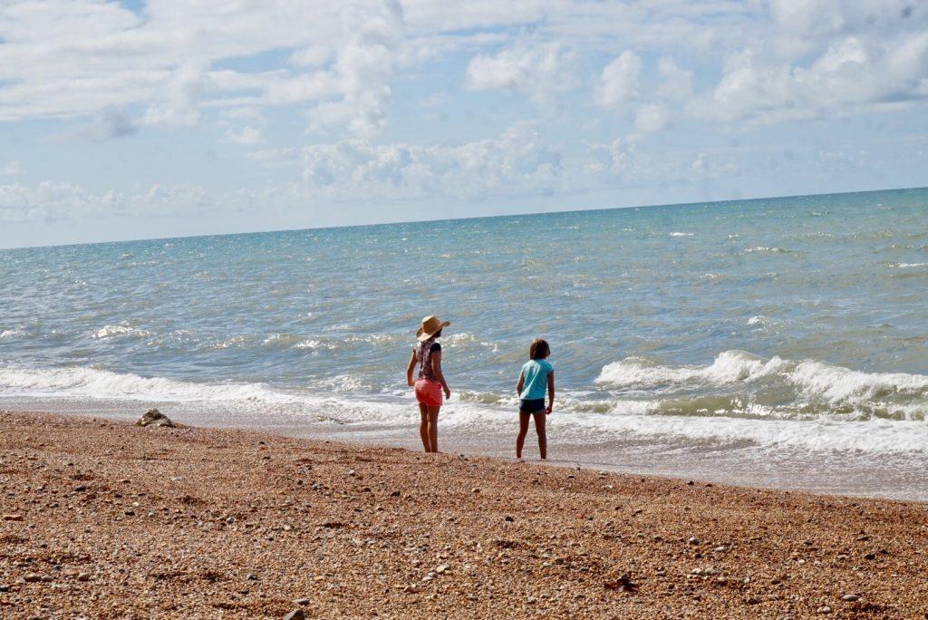 Girls enjoying some wave jumping on Freshwater Beach