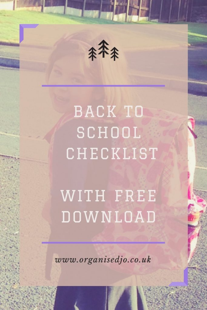 Back to School Checklist with free download